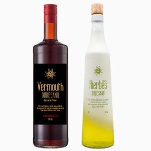 Vermouth rojo + Licor de hierbas