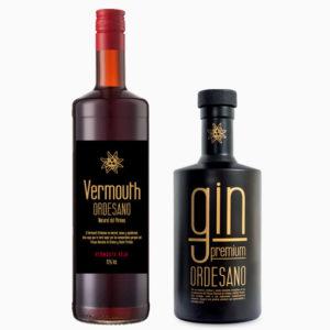 Vermouth rojo + Gin Premium